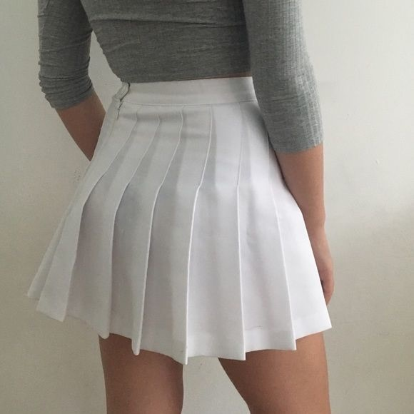 ca309f6b1c American Apparel Dresses & Skirts - Make an offer American Apparel white  pleated skirt